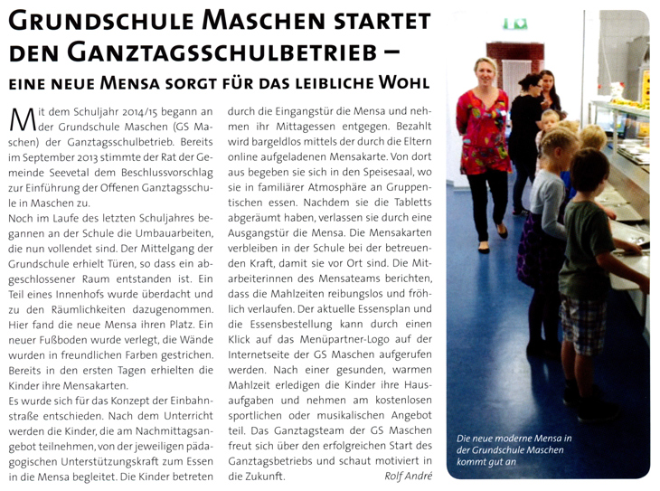 2014-Grundschule Maschen startet den Ganztagsschulbetrieb